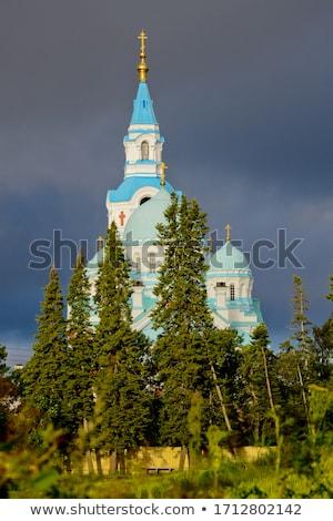 Kathedraal Rusland eiland hemel zomer kerk Stockfoto © borisb17