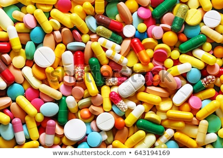 different colorful pills background stock photo © dashapetrenko