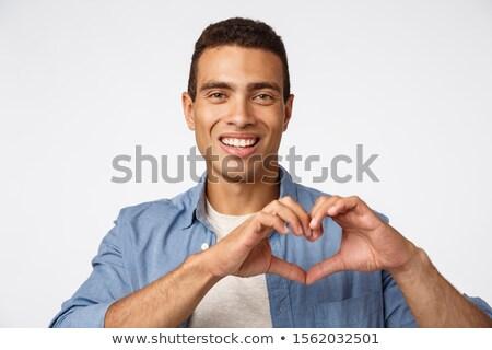 Amor afecto encantador jóvenes masculino hombre Foto stock © benzoix