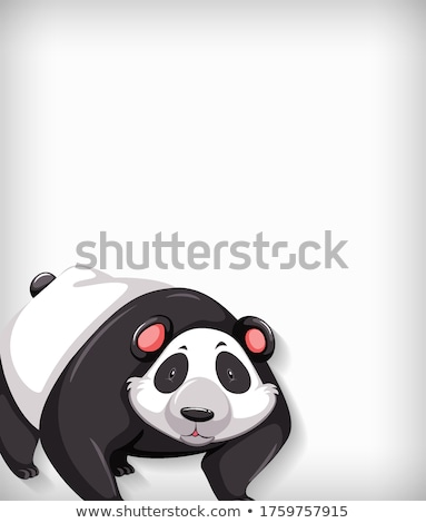 Background template design with plain color and cute panda Stock photo © bluering