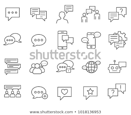 book discussion dialogue icon vector outline illustration Stock photo © pikepicture