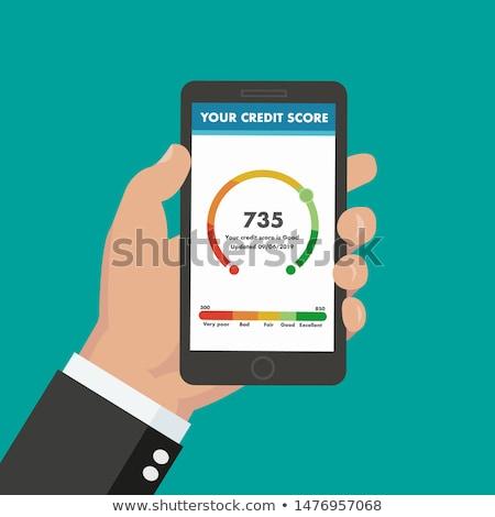 Credit Score Check On Mobile Phone Stock photo © AndreyPopov