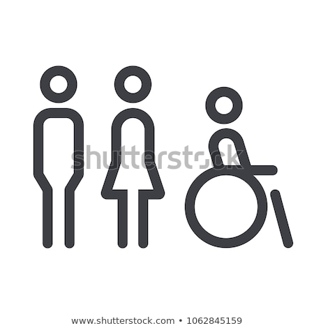 Man And Toilet Icon Vector Outline Illustration Stock photo © pikepicture