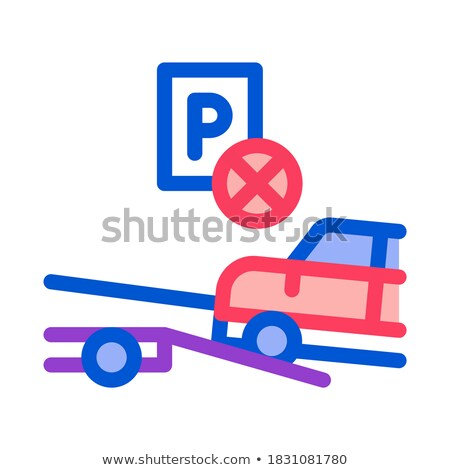 Wrong Parking Car Icon Vector Outline Illustration Stock photo © pikepicture