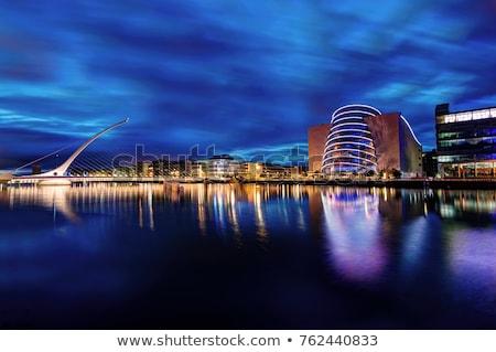 Dublin sziluett szín épületek kék ég tükröződések Stock fotó © ShustrikS