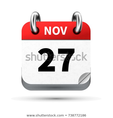 Bright realistic icon of calendar with 27 november date isolated on white Stock photo © evgeny89