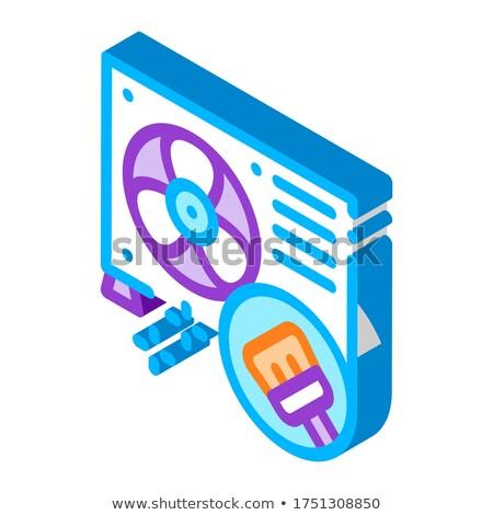 Acondicionador reparación limpieza icono vector Foto stock © pikepicture
