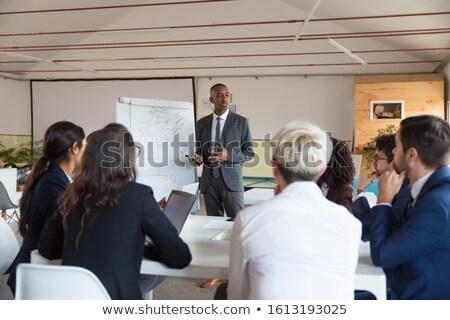 conferentie · afbeelding · zakenman · presentatie · business - stockfoto © pressmaster