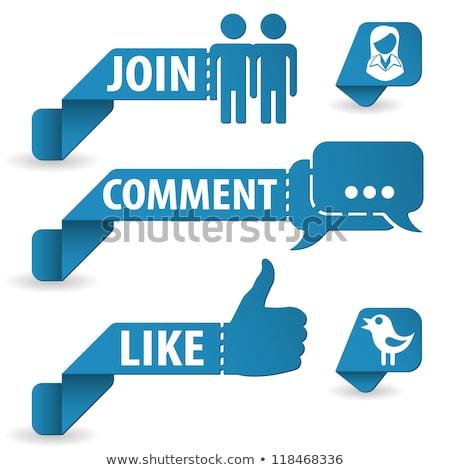 Papier Mann Social Media Blase weiß Internet Stock foto © kbuntu