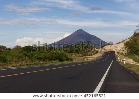 Никарагуа · шоссе · знак · зеленый · облаке · улице · знак - Сток-фото © kbuntu