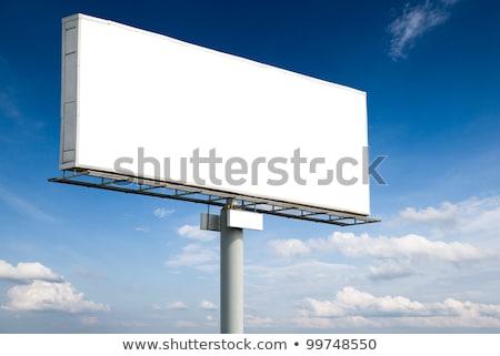 Billboard · аннотация · городского · синий · шоссе · маркетинга - Сток-фото © sahua