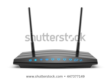blue internet router with two antennas stock photo © gewoldi