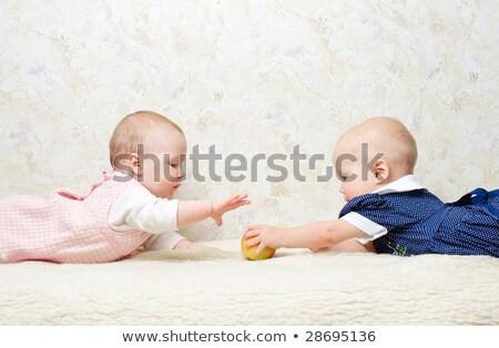 Baby Grabs the Apple Stock photo © JamiRae