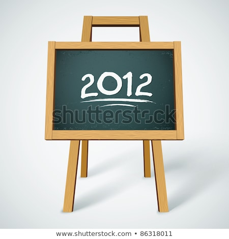 Blackboard / chalkboard with a handwriting of 2012 Stock photo © bbbar