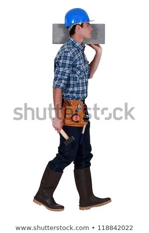 Handlowiec człowiek drewna budowy pracy Zdjęcia stock © photography33