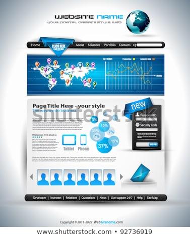 Complex Website Template - Elegant Design  Stock photo © DavidArts