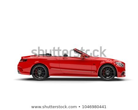 luxo · cereja · vermelho · carro · ver · monocromático - foto stock © curaphotography