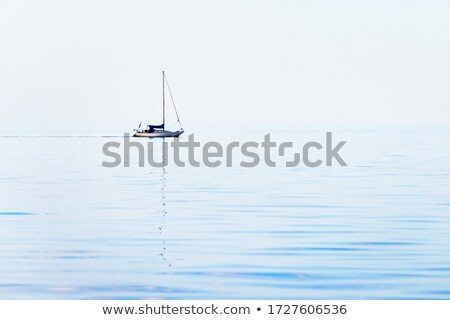 Water landscape with sailboat Stock photo © ivonnewierink