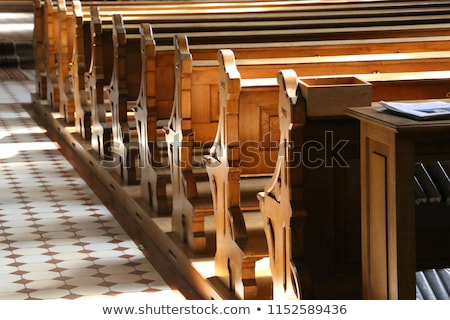 the wooden benches in a church Stock photo © njaj