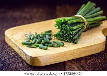 Cebollino casa cocina alimentos salud verde Foto stock © artush