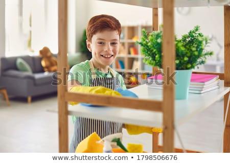 Huishouden meisjes lezing leven stress Stockfoto © photography33