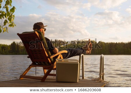 man relaxing at the pier stock photo © photography33