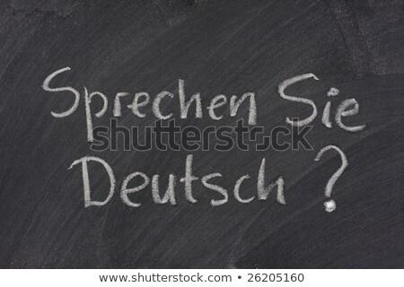 Handschriftlich weiß Kreide Tafel Schule Bildung Stock foto © nenovbrothers