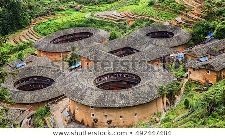 interior of tulou in fujian china stock photo © kawing921