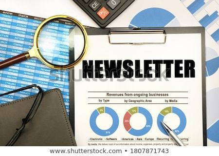 Bülteni görüntü metin e-mail imzalamak zarf Stok fotoğraf © marinini