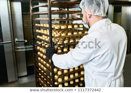 Ready backed cookies on a rack Stock photo © 3523studio