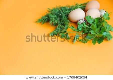 Сток-фото: небольшой · куриные · красочный · пасхальных · яиц · желтый · Пасху