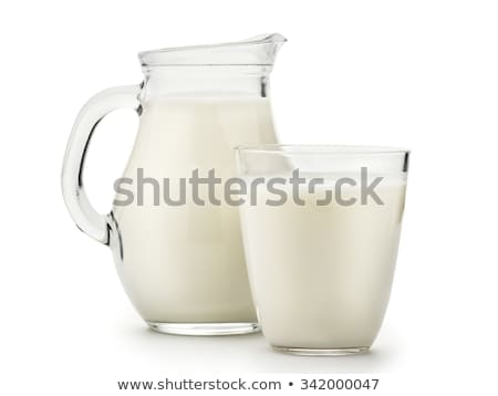 Vidrio jarra leche blanco fondo tienda Foto stock © ozaiachin