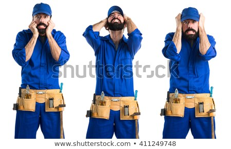 Handyman pulling a plunger Stock photo © photography33