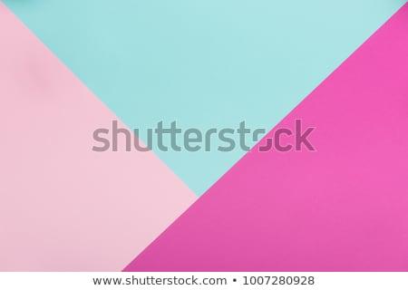 Veelkleurig papier kan abstract ontwerp Blauw Stockfoto © ozaiachin