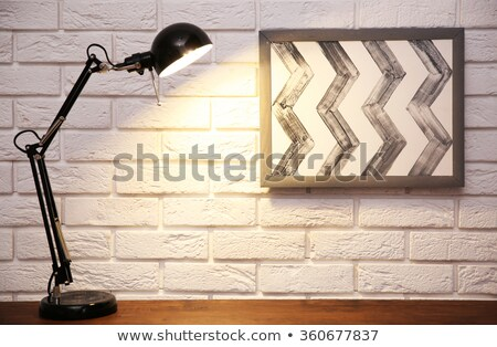 background with desk lamp illuminating place for text Stock photo © yurkina