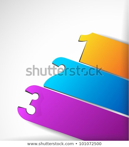 paper style labels with 3 choices stock photo © davidarts