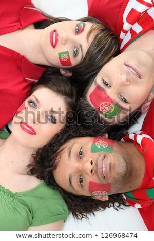 Vier Portugal voetbal sport achtergrond schoonheid Stockfoto © photography33