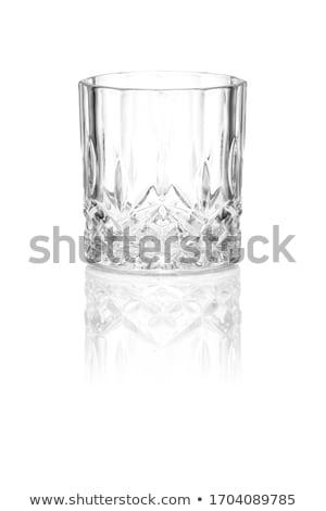 空っぽ · ガラス · ウイスキー · 孤立した · 白 · パーティ - ストックフォト © grafvision