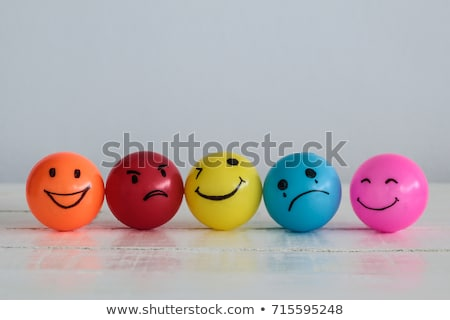 Stock photo: Yellow Smiley Balls With Positive And Negative Emotions