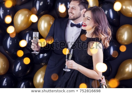 young couple celebrating event with champagne stock photo © photography33