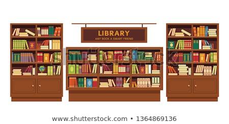 Legno bookstore isolato bianco legno moda Foto d'archivio © shutswis