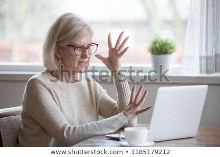 Irritado empresária mulher zangado emoção ruim Foto stock © photography33