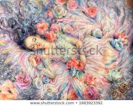 mulher · adormecido · rosa · cara · vermelho · jovem - foto stock © wavebreak_media