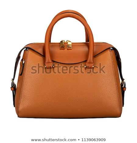 turuncu · çanta · yalıtılmış · beyaz · kâğıt · kadın - stok fotoğraf © ozaiachin