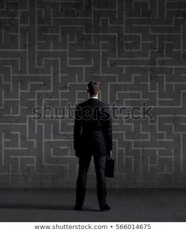 Twisting Businessman Stock photo © blamb