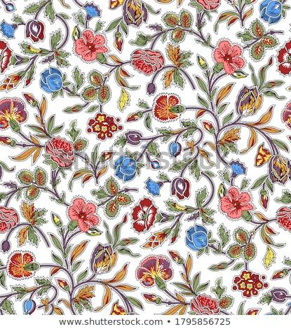 Colourful seamless paisley pattern stock photo © juliakuz