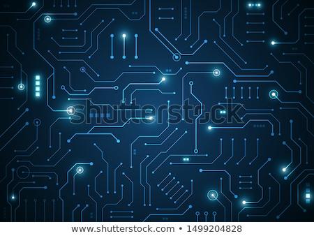 Placa-mãe computador pequeno eletrônico componentes internet Foto stock © ondrej83