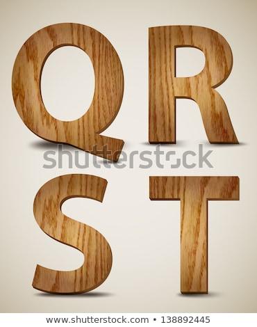 wooden alphabet - letter Q Stock photo © ozaiachin