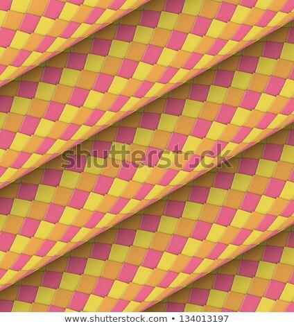 diagonal tiled orange yellow pink roll shape backdrop  Stock photo © Melvin07