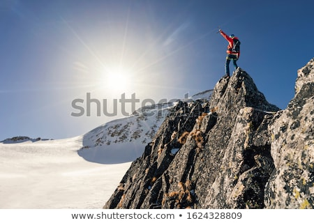 Landscape of moutains tops Stock photo © bbbar